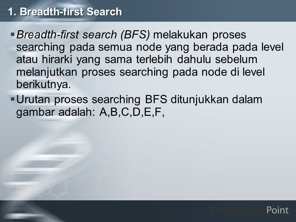 1. Breadth-first Search