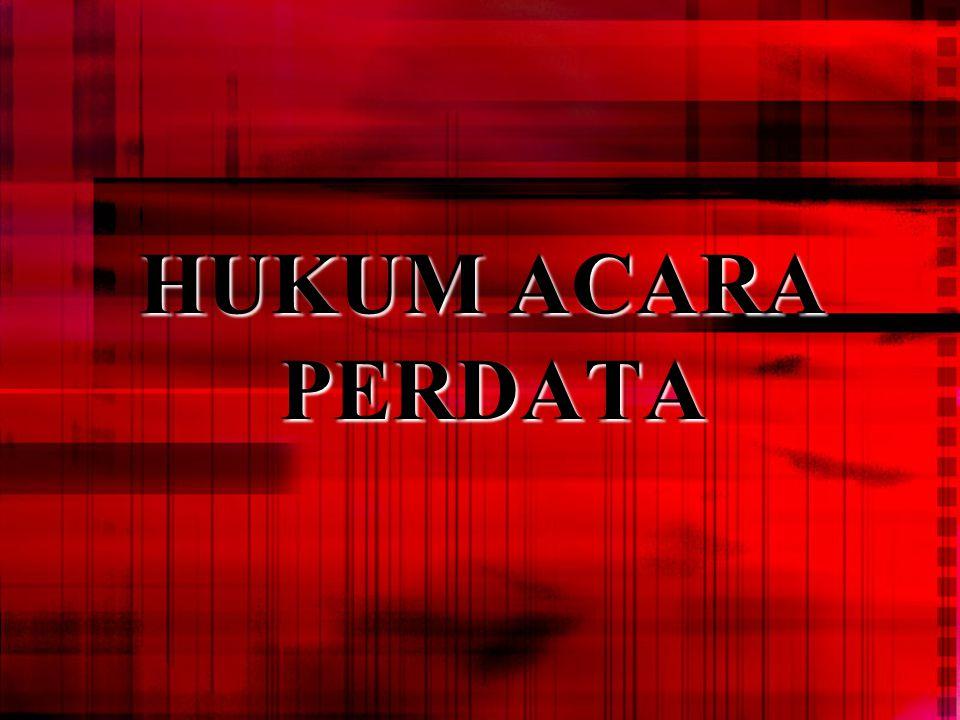 HUKUM ACARA PERDATA