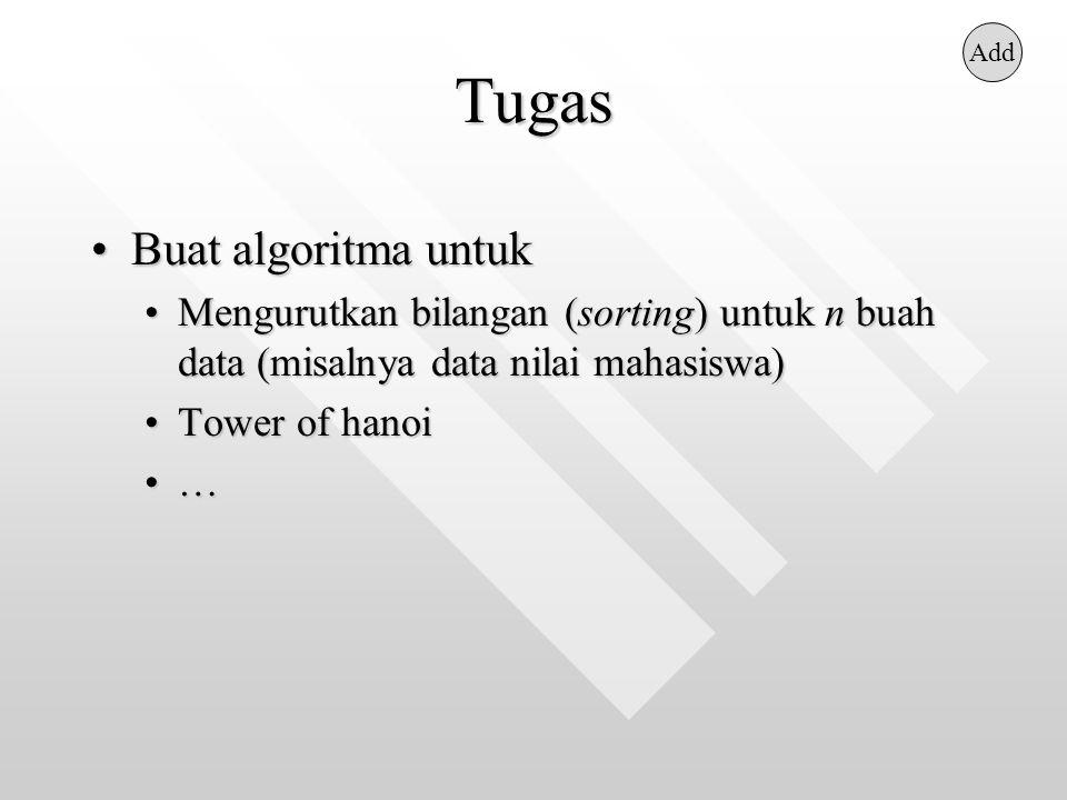 Tugas Buat algoritma untuk