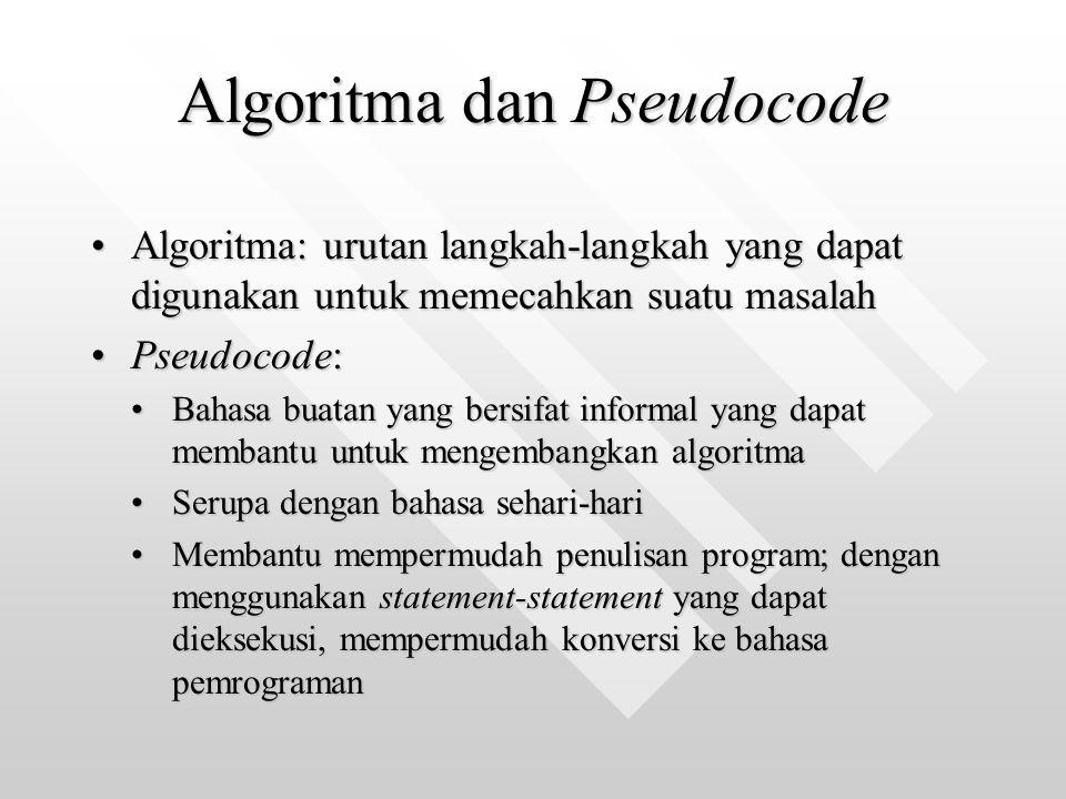 Algoritma dan Pseudocode