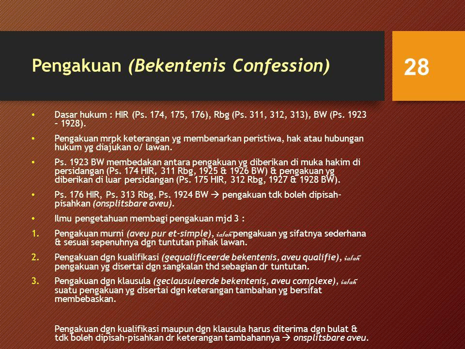 Pengakuan (Bekentenis Confession)