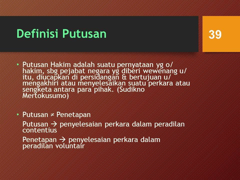 Definisi Putusan