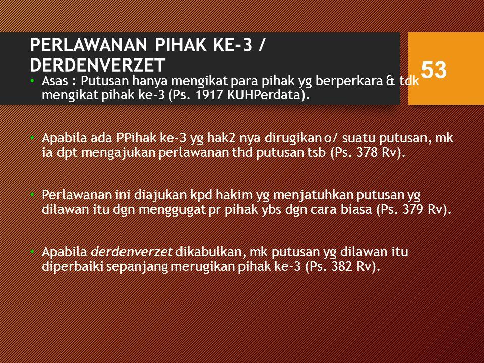 PERLAWANAN PIHAK KE-3 / DERDENVERZET