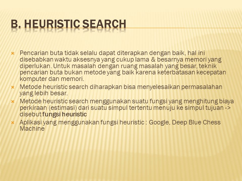 B. Heuristic Search