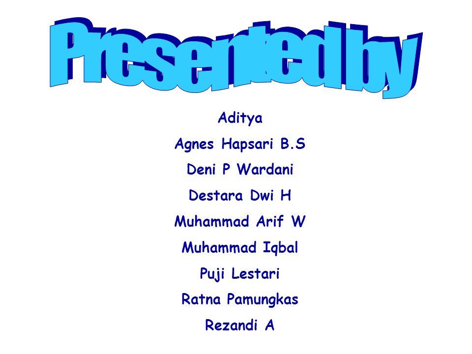Presented by Aditya Agnes Hapsari B.S Deni P Wardani Destara Dwi H