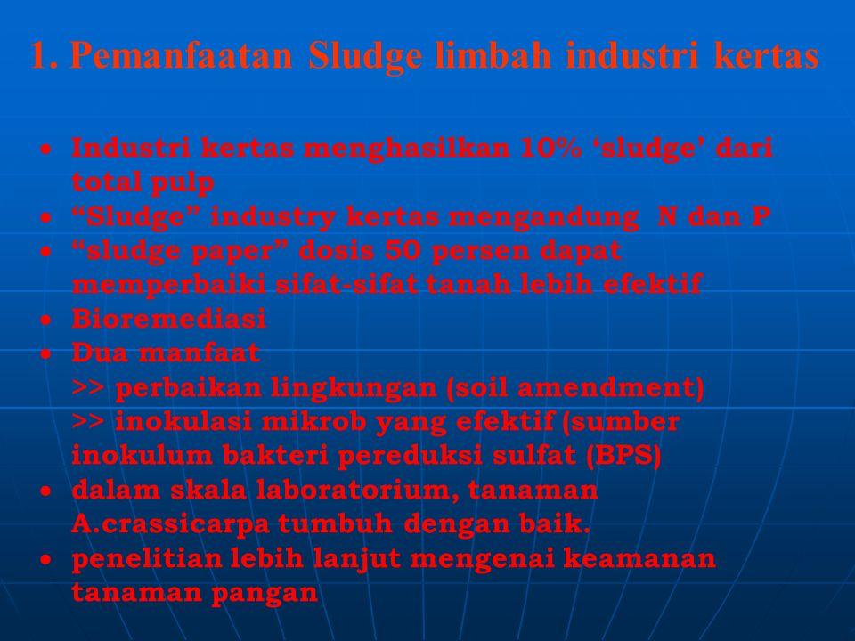 1. Pemanfaatan Sludge limbah industri kertas