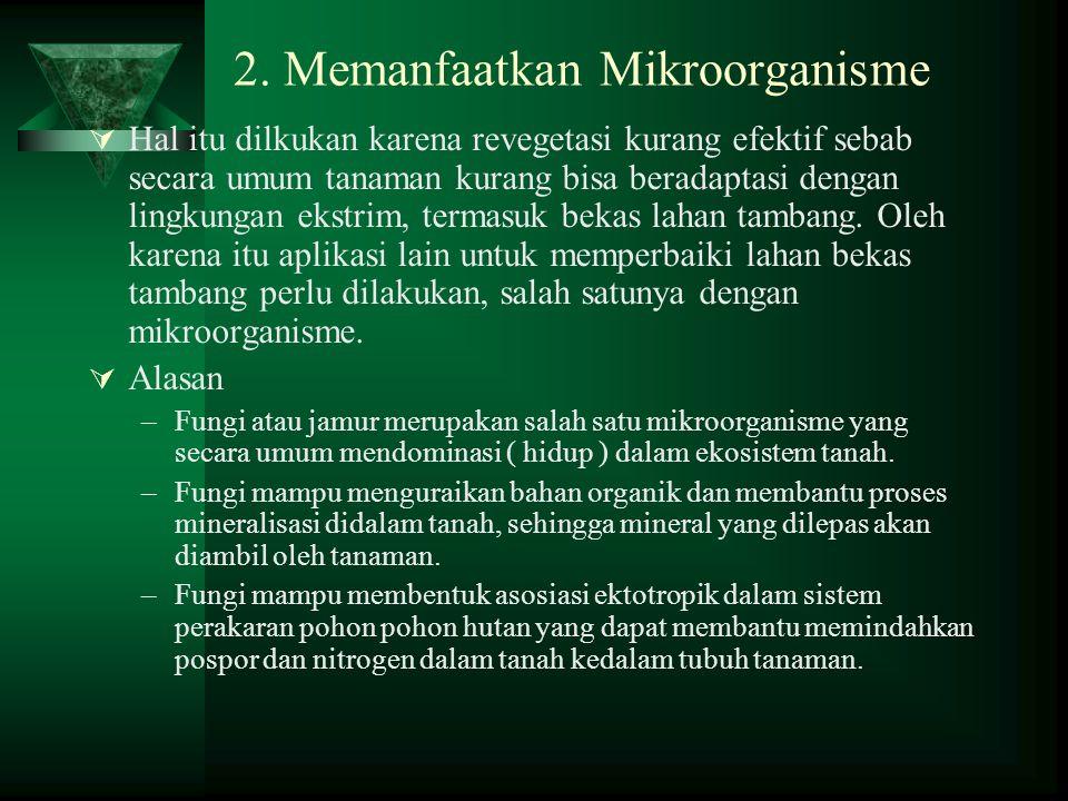 2. Memanfaatkan Mikroorganisme