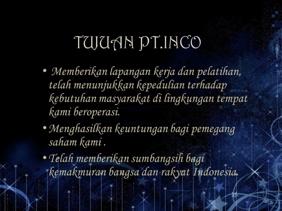 TUJUAN PT.INCO
