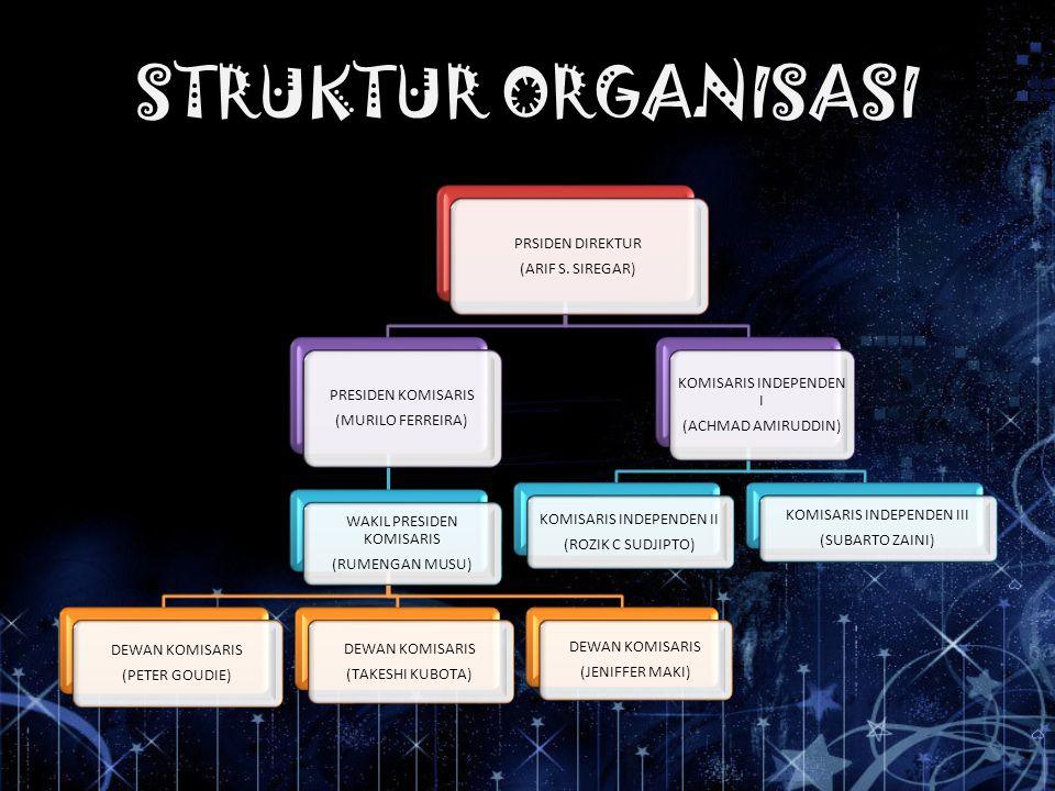 STRUKTUR ORGANISASI (ARIF S. SIREGAR) PRSIDEN DIREKTUR