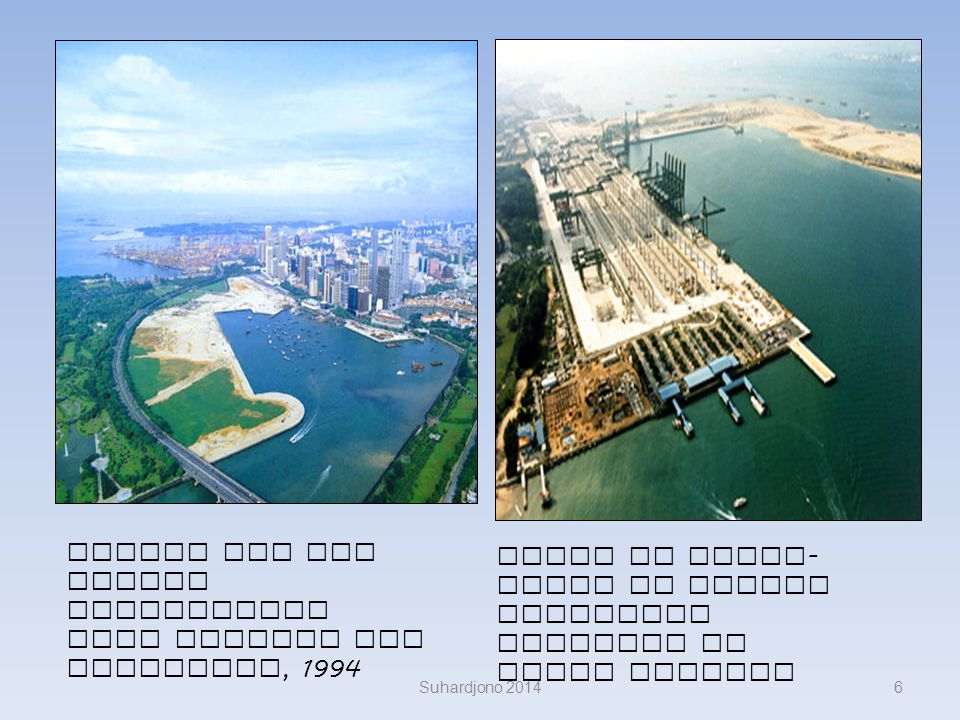 Marina Bay and Jurong reclamation work Tanjong Rhu Singapura, 1994