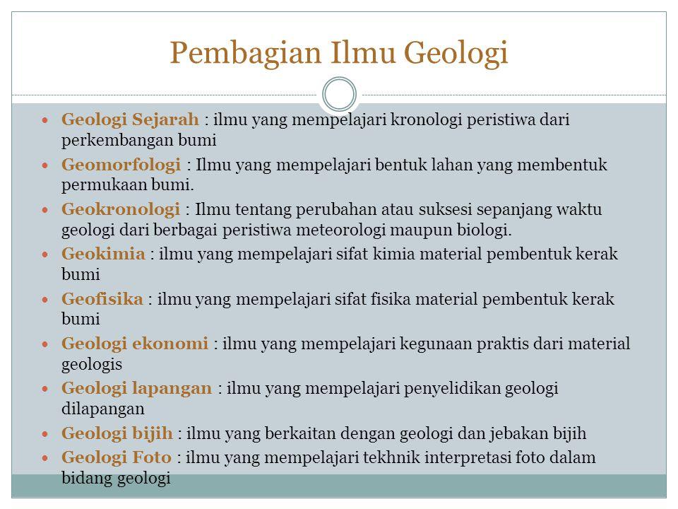 Pembagian Ilmu Geologi