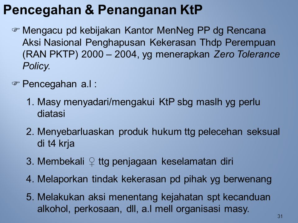 Pencegahan & Penanganan KtP