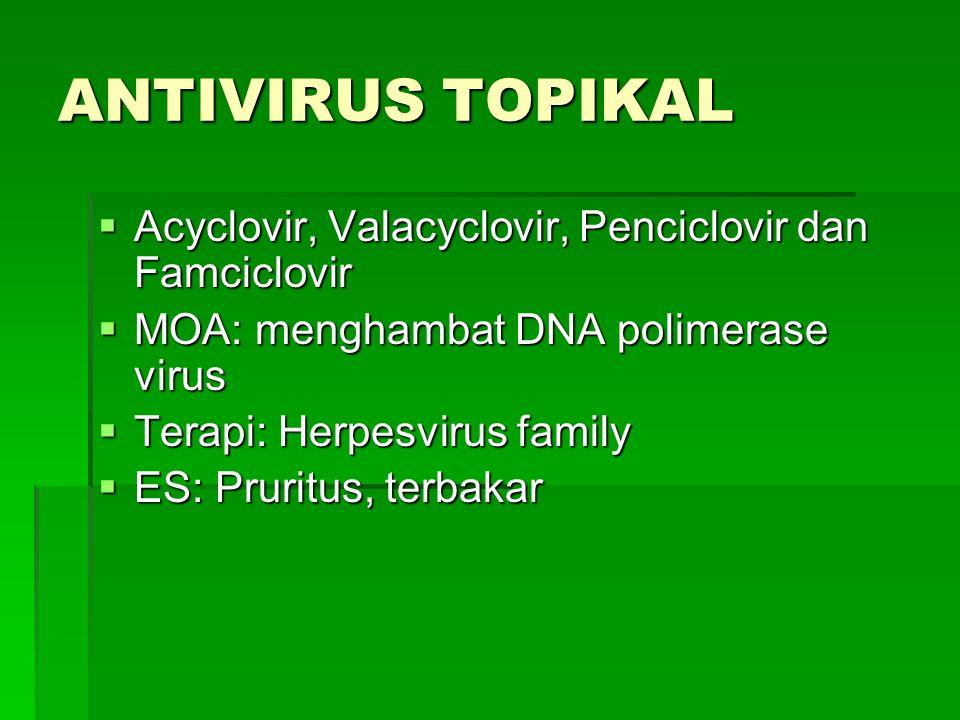 ANTIVIRUS TOPIKAL Acyclovir, Valacyclovir, Penciclovir dan Famciclovir
