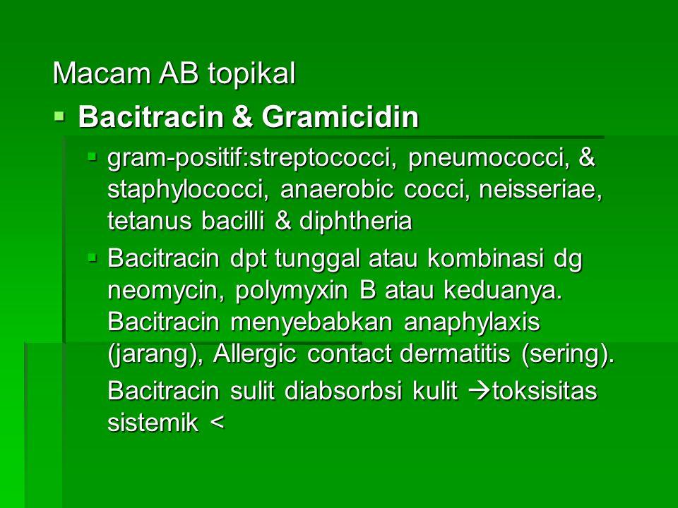 Bacitracin & Gramicidin