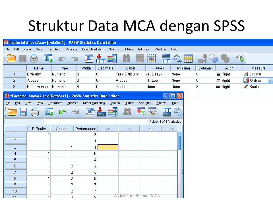Struktur Data MCA dengan SPSS