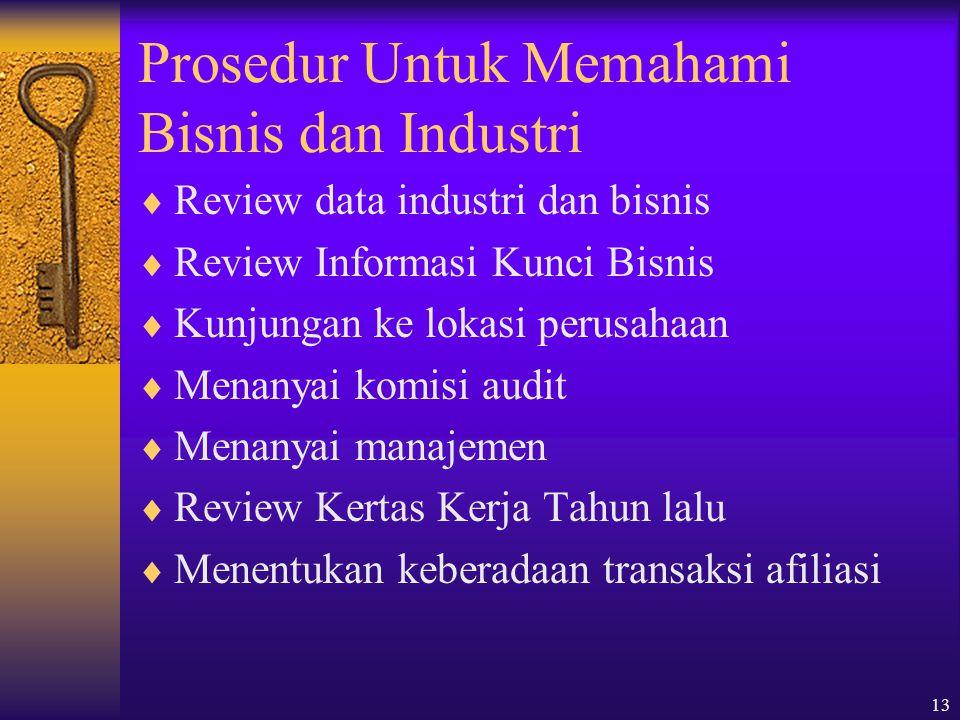 Prosedur Untuk Memahami Bisnis dan Industri