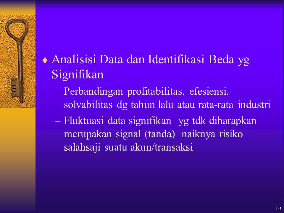 Analisisi Data dan Identifikasi Beda yg Signifikan