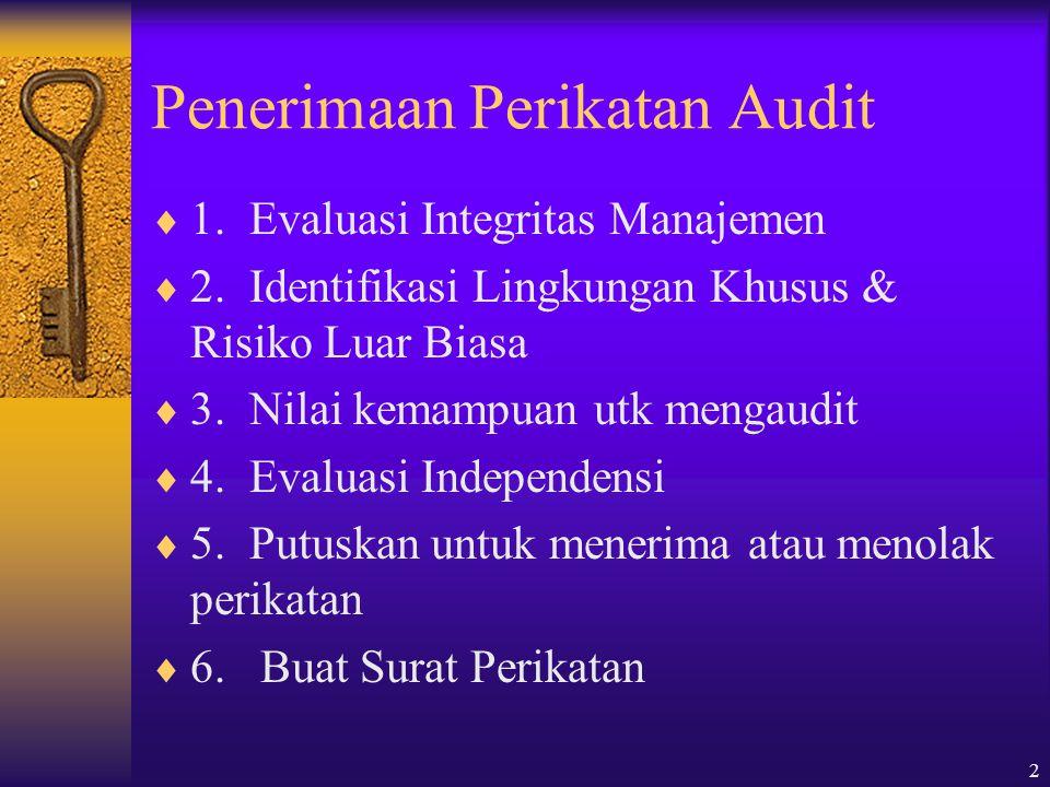 Penerimaan Perikatan Audit