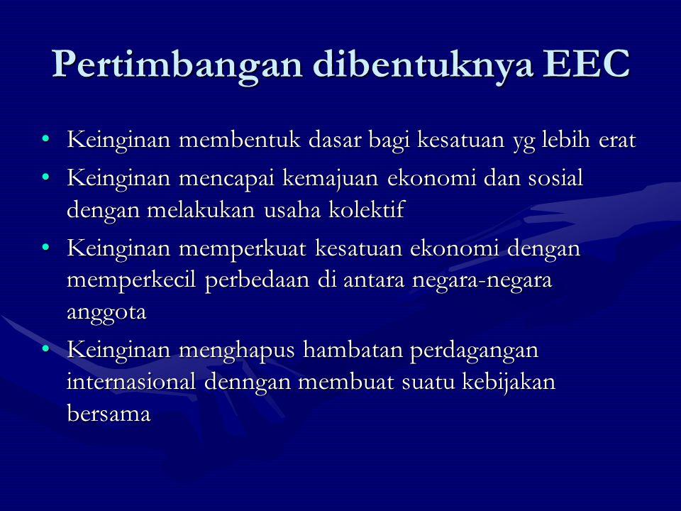 Pertimbangan dibentuknya EEC