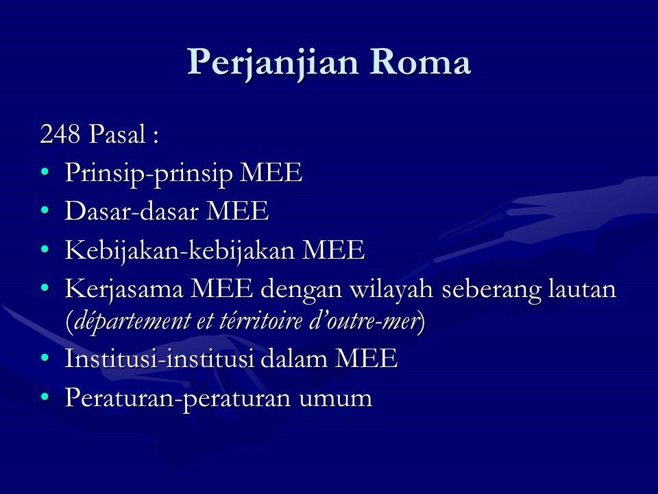 Perjanjian Roma 248 Pasal : Prinsip-prinsip MEE Dasar-dasar MEE