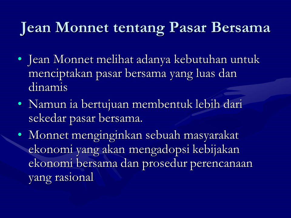 Jean Monnet tentang Pasar Bersama