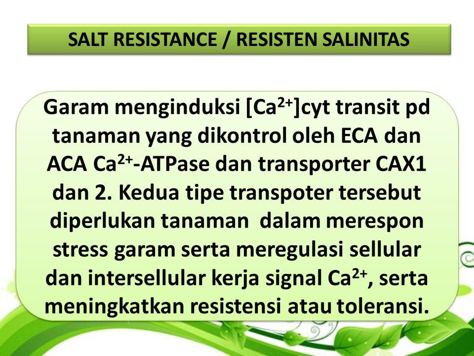 SALT RESISTANCE / RESISTEN SALINITAS