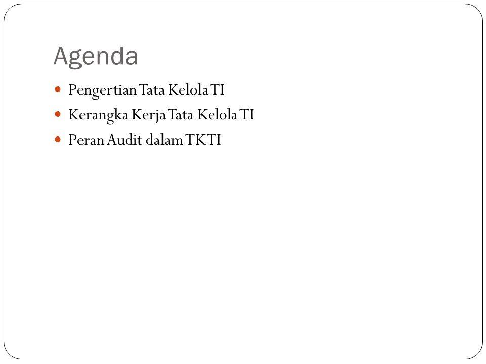 Agenda Pengertian Tata Kelola TI Kerangka Kerja Tata Kelola TI