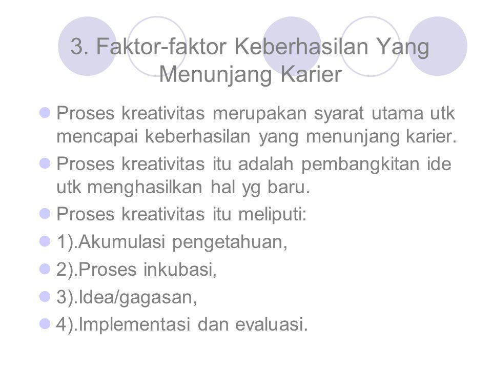 3. Faktor-faktor Keberhasilan Yang Menunjang Karier