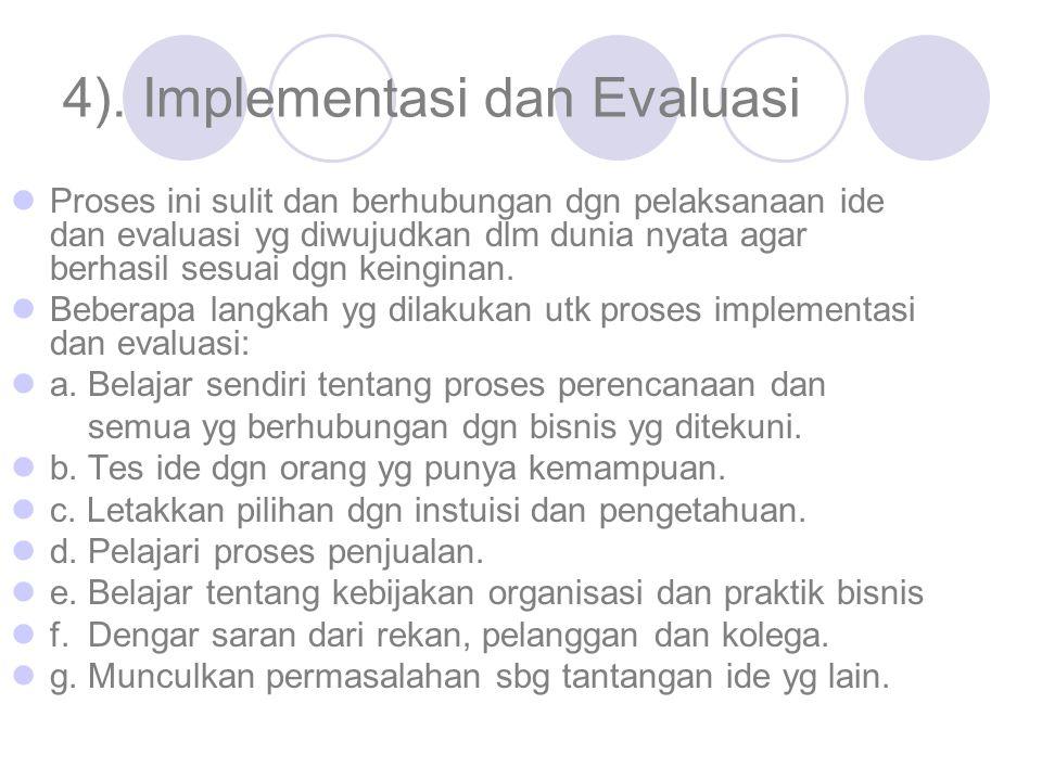 4). Implementasi dan Evaluasi