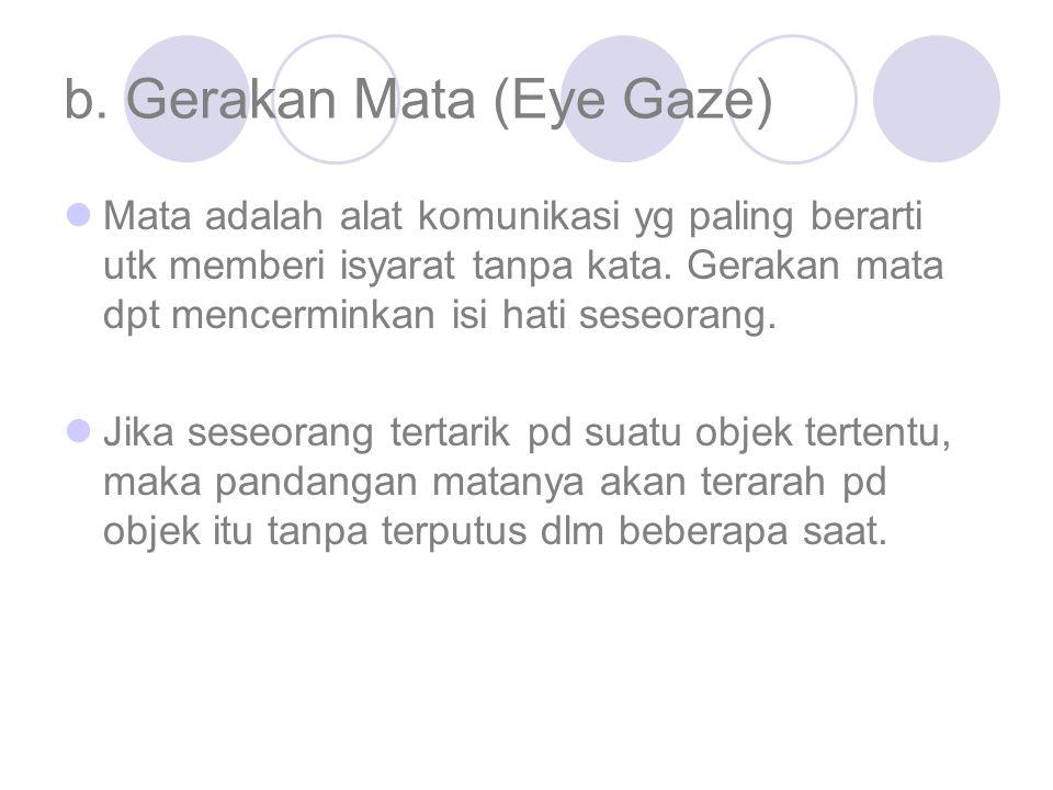 b. Gerakan Mata (Eye Gaze)