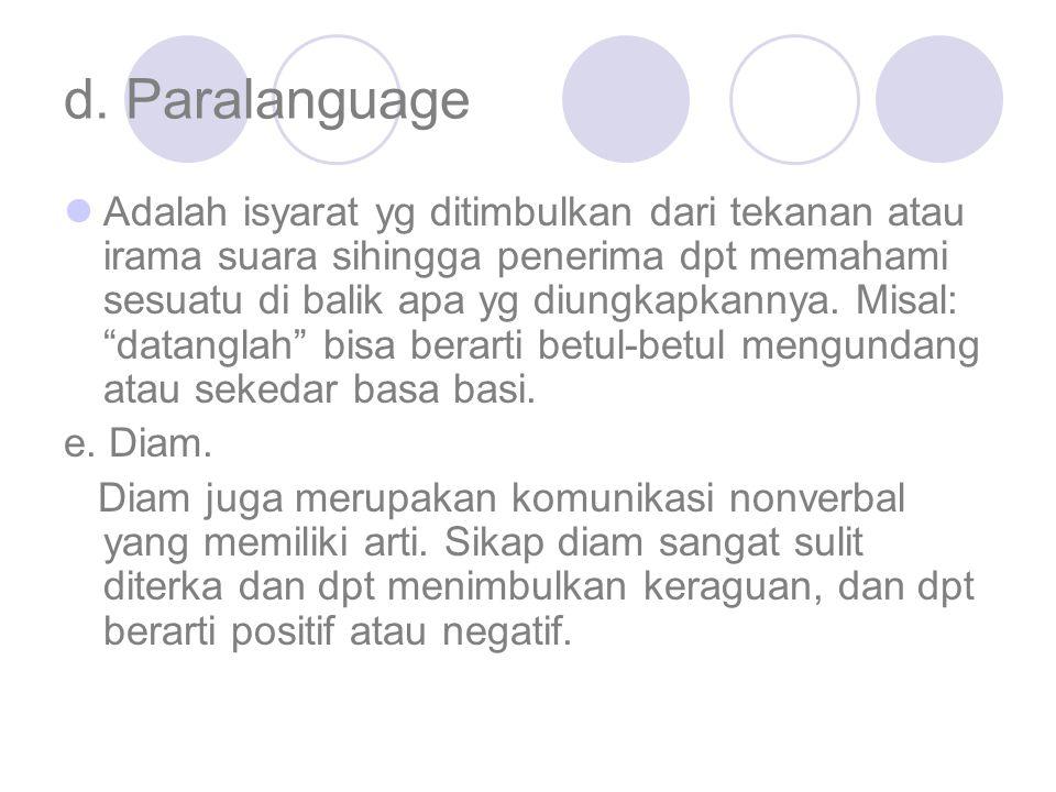 d. Paralanguage