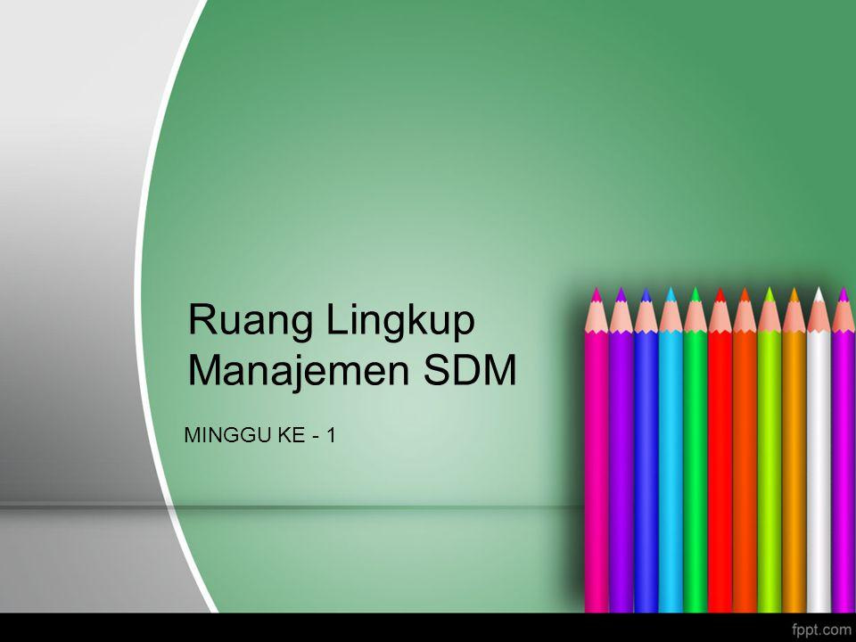 Ruang Lingkup Manajemen SDM