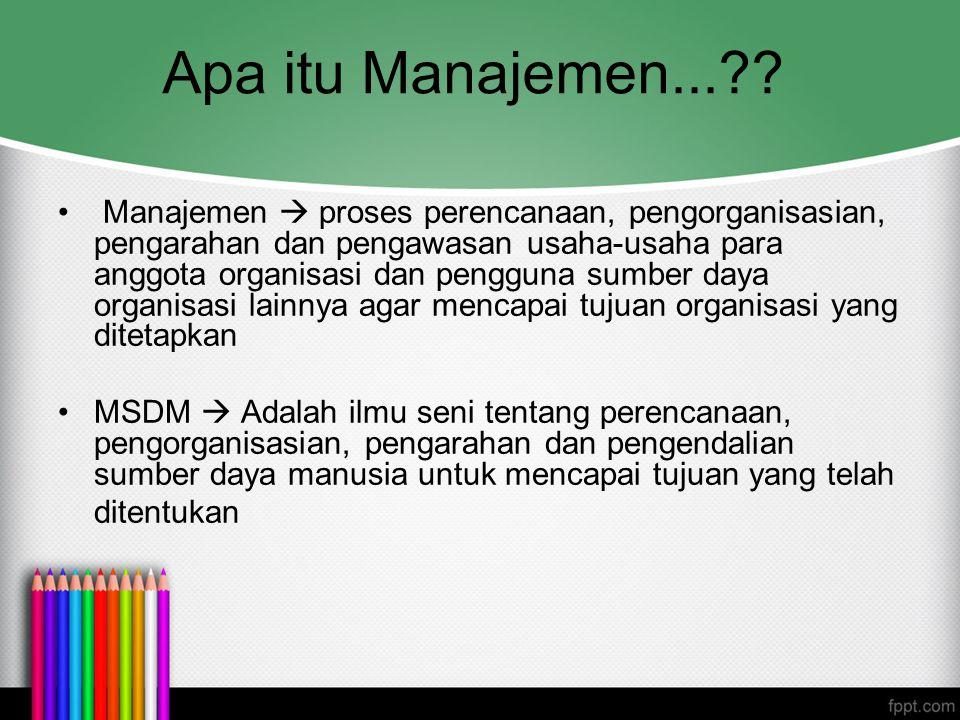 Apa itu Manajemen...