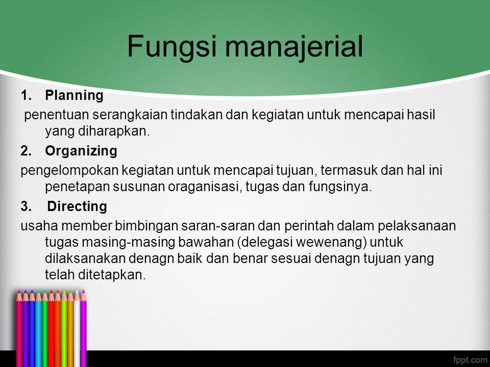Fungsi manajerial Planning