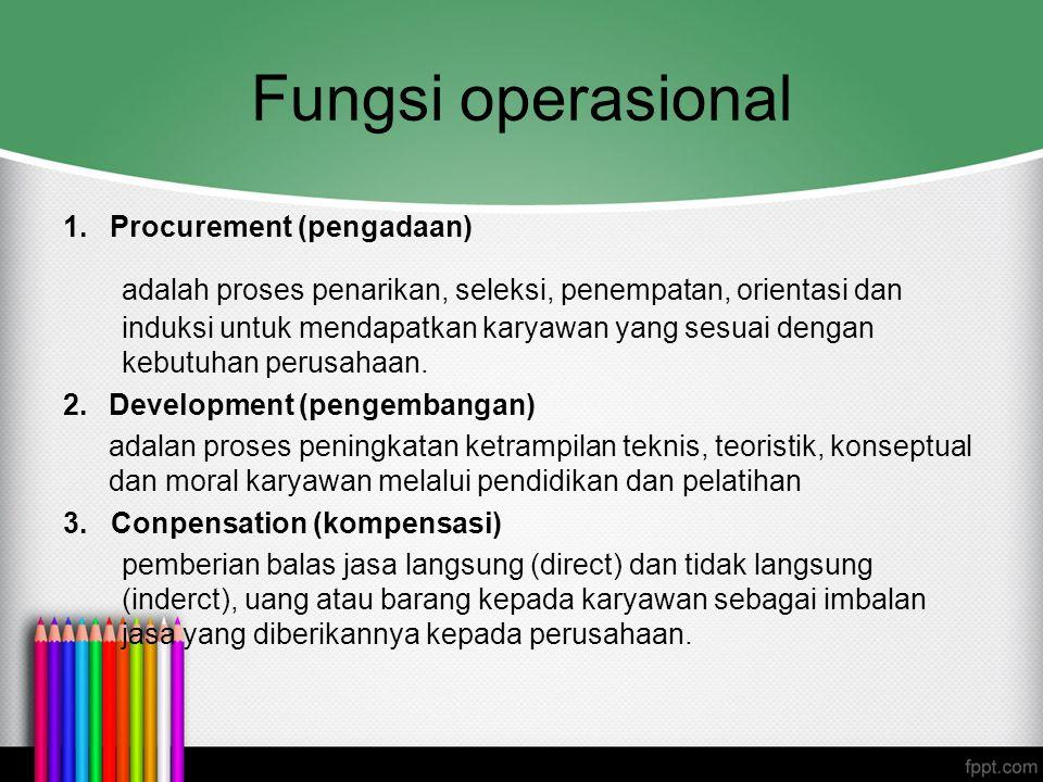 Fungsi operasional Procurement (pengadaan)