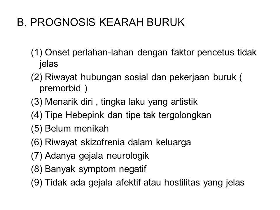 B. PROGNOSIS KEARAH BURUK