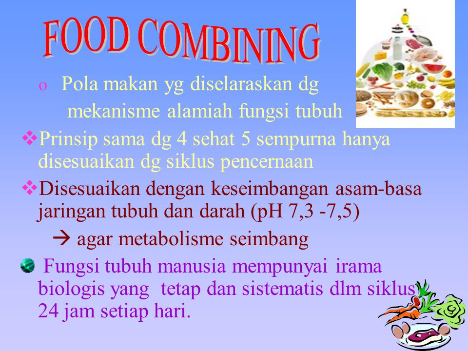 FOOD COMBINING mekanisme alamiah fungsi tubuh
