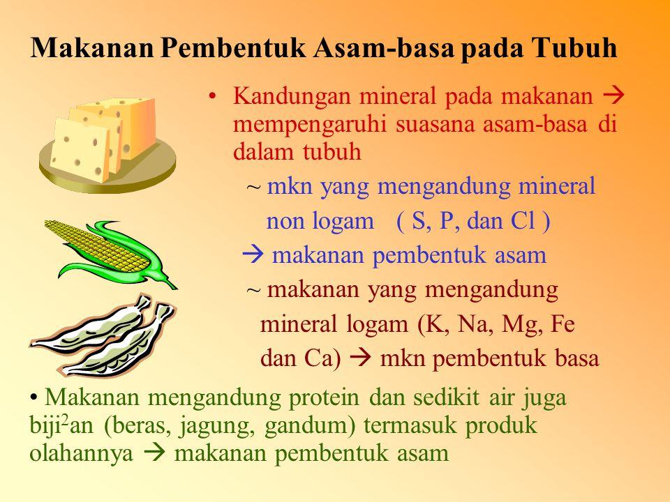 Makanan Pembentuk Asam-basa pada Tubuh