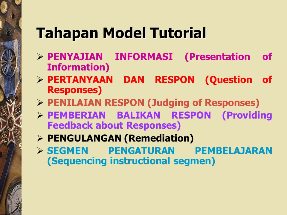 Tahapan Model Tutorial