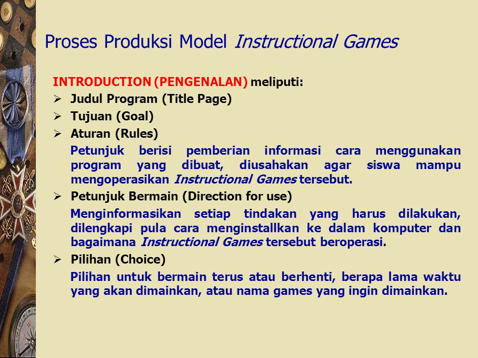 Proses Produksi Model Instructional Games