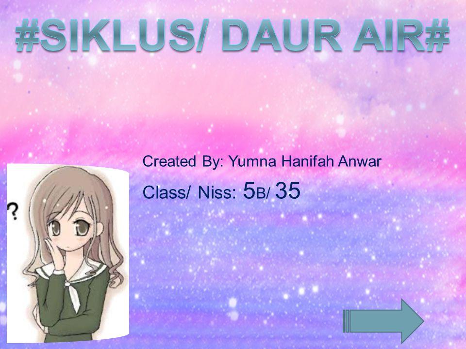 Created By: Yumna Hanifah Anwar Class/ Niss: 5B/ 35