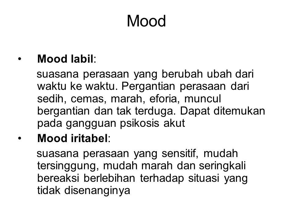 Mood Mood labil:
