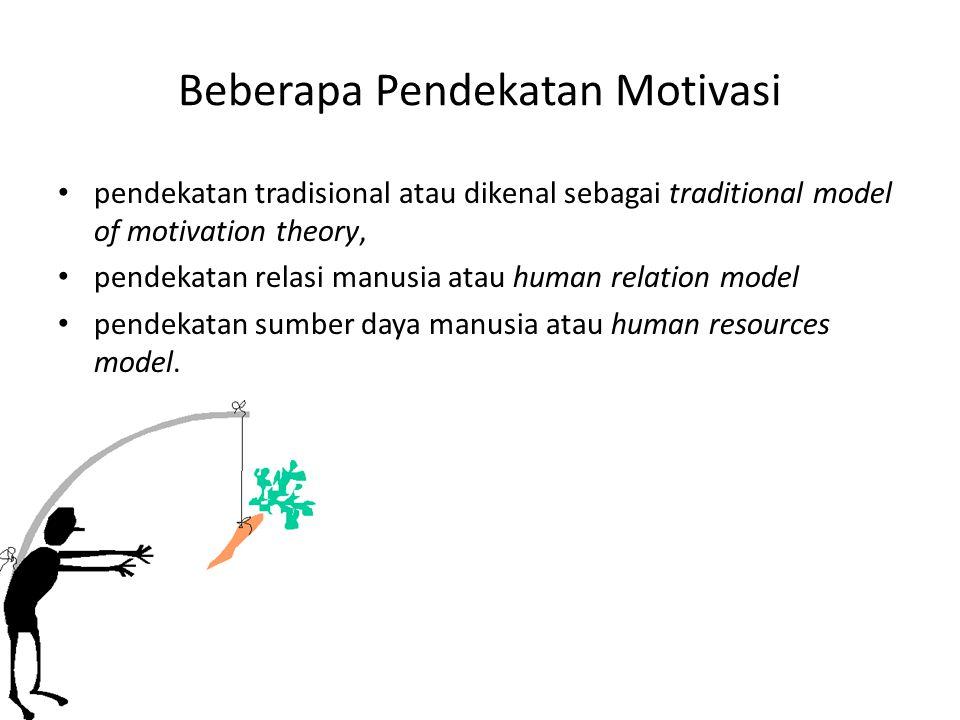 Beberapa Pendekatan Motivasi