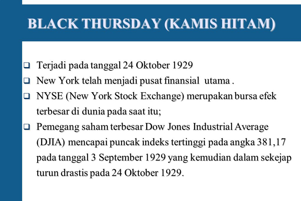 BLACK THURSDAY (KAMIS HITAM)‏
