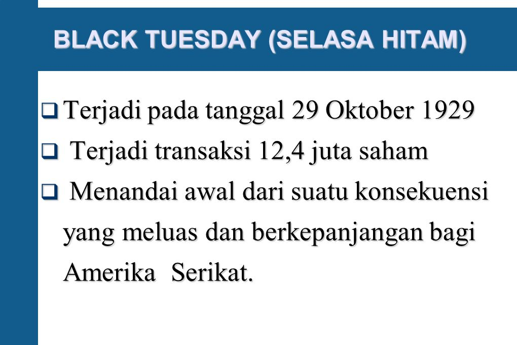 BLACK TUESDAY (SELASA HITAM)‏