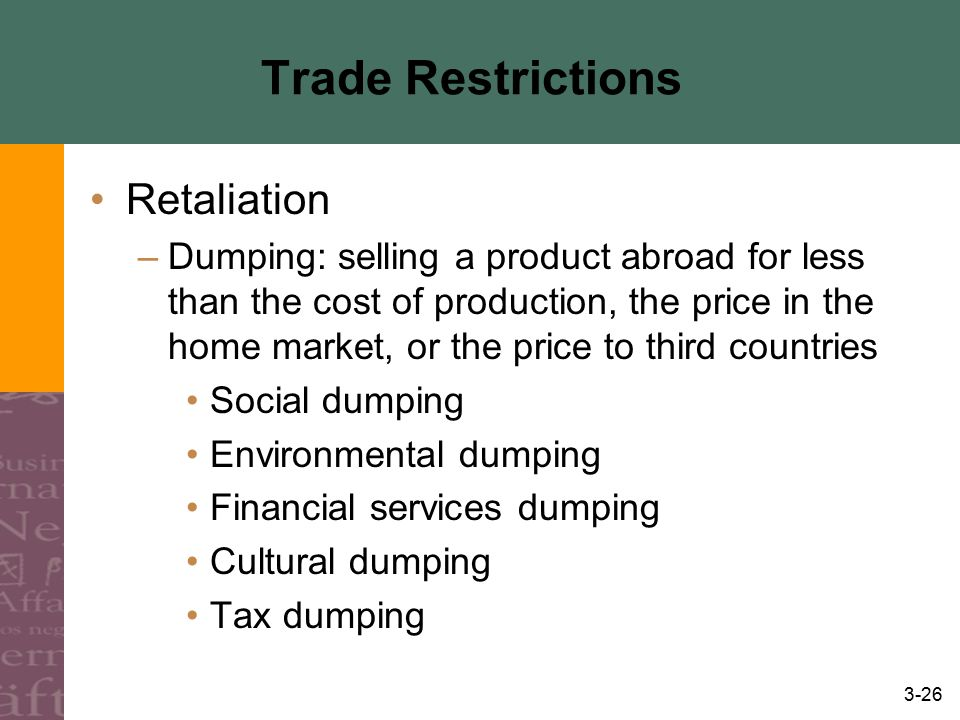 Trade Restrictions Retaliation
