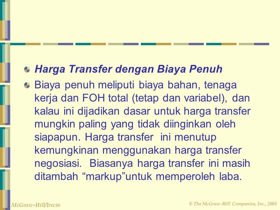Harga Transfer dengan Biaya Penuh