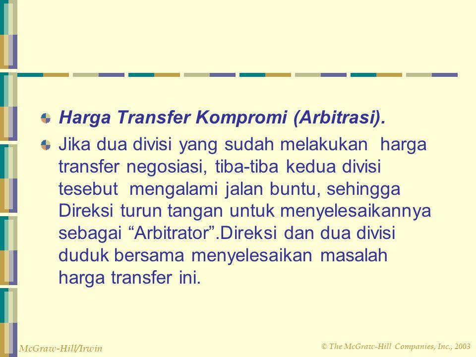 Harga Transfer Kompromi (Arbitrasi).