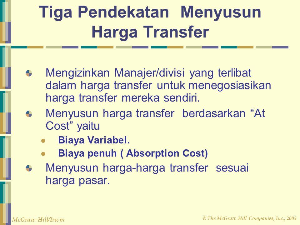Tiga Pendekatan Menyusun Harga Transfer