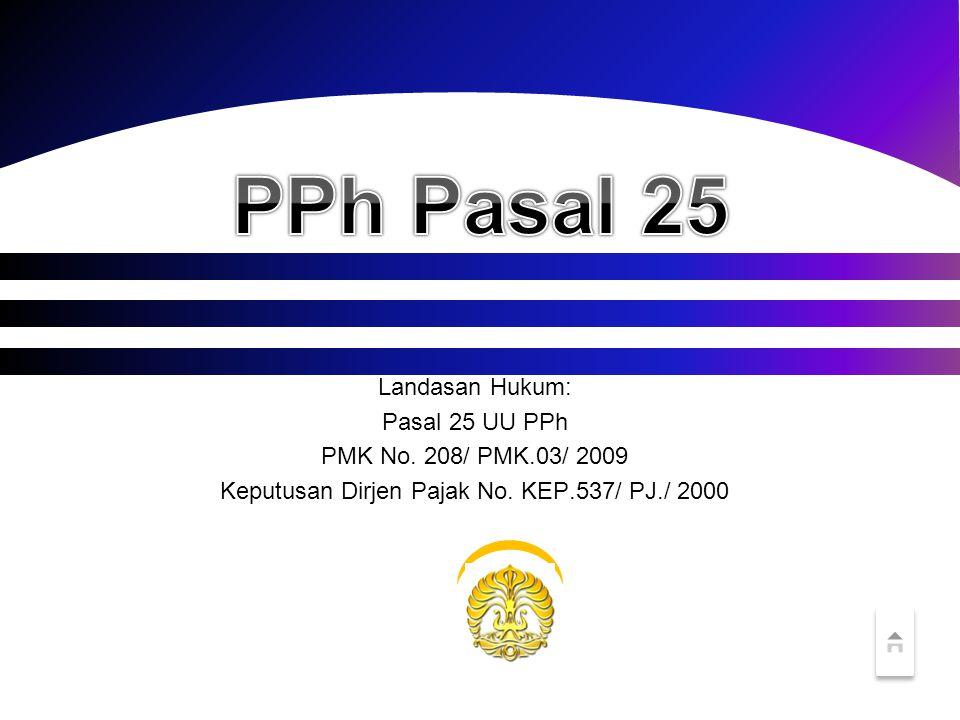 Keputusan Dirjen Pajak No. KEP.537/ PJ./ 2000